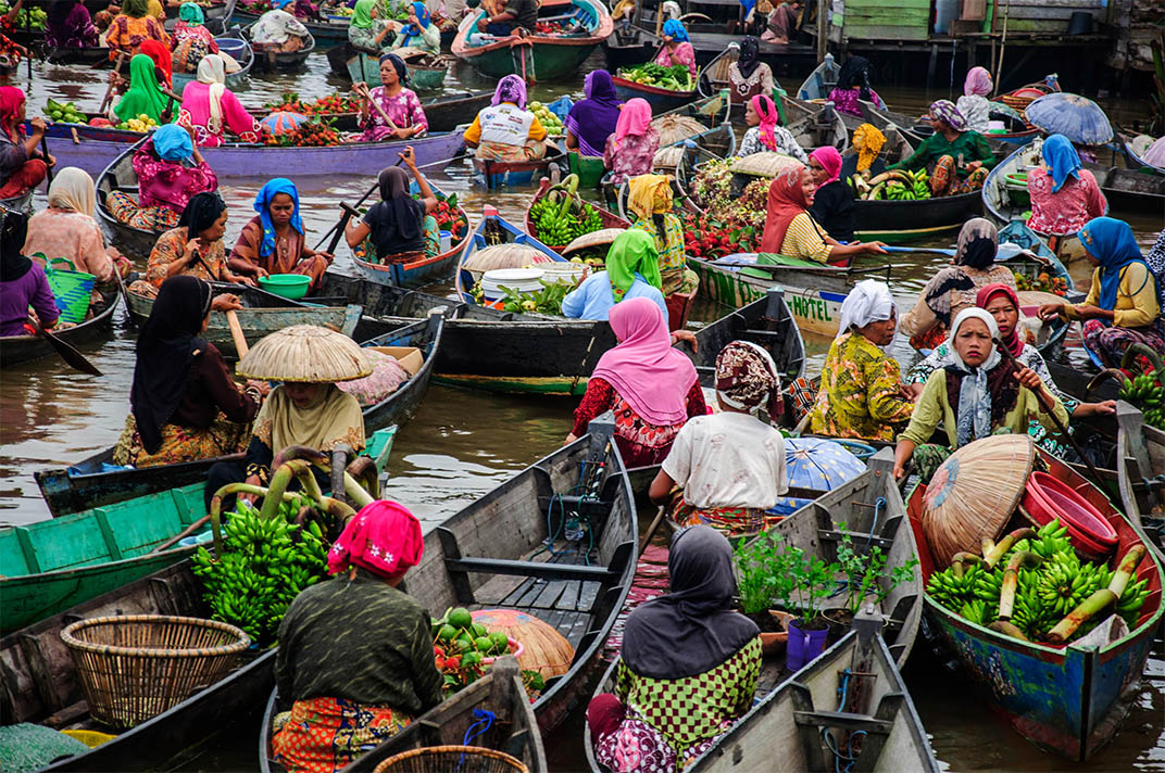 Mercado Flutuante de Muara Kuin