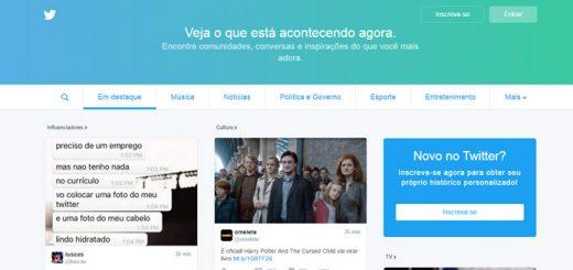 Twitter lança nova página para não usuários