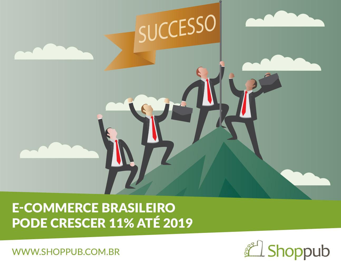 E-commerce Brasileiro pode crescer 11% até 2019